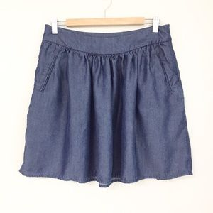 Cynthia Rowley Chambray Skirt Size 10